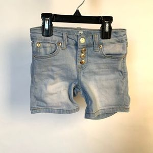 7 For All Mankind Girls Blue Jean Shorts